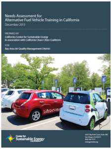 Needs Assessment for Alternative Fuel Vehicle Training in California